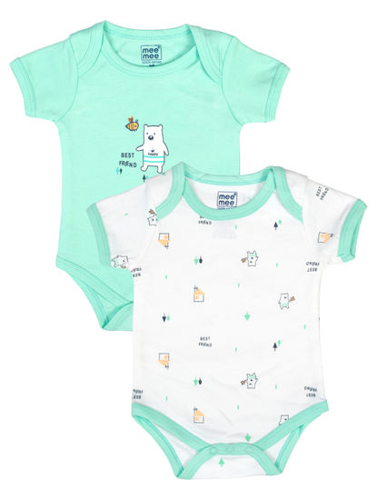 Mee Mee Kids Teddy Print Bodysuit Pack Of 2