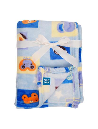 Mee Mee Soft Baby Blanket (Snuggly Comfort) (Dark Blue)