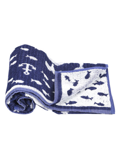 Mee Mee Soft Absorbent Organic Baby Towel (Blue)