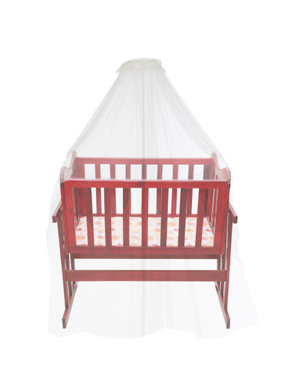 Mee Mee Swinging Wooden Baby Cradle With Mosquito Net