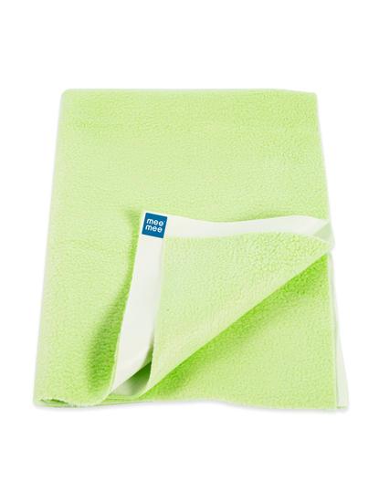 Mee Mee Baby Waterproof Bed Protector Total Dry Sheets – (Pista Green)