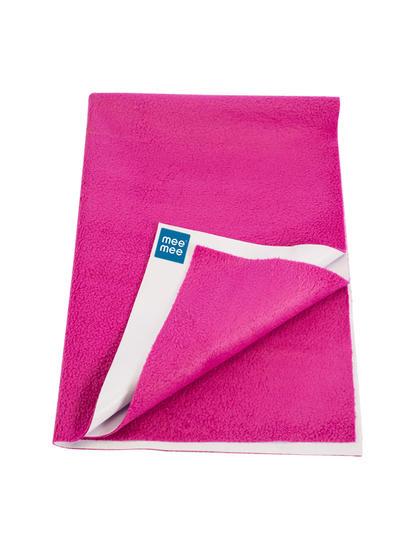 Mee Mee Baby Waterproof Bed Protector Total Dry Sheets – (Rani Pink)