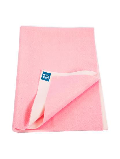 Mee Mee Baby Waterproof Bed Protector Total Dry Sheets – (Pink)