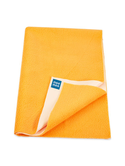 Mee Mee Baby Waterproof Bed Protector Total Dry Sheets – (Orange)