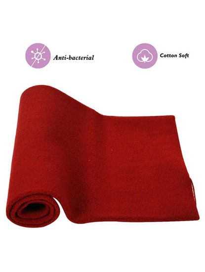 Mee Mee Baby Total Dry and Breathable Mattress Protector Sheet – (Maroon)