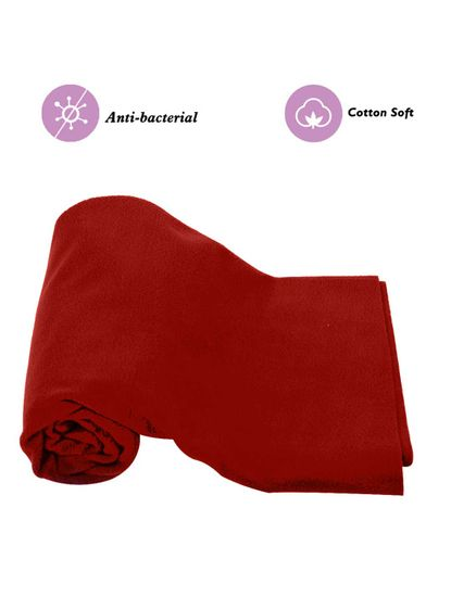 Mee Mee Baby Waterproof Bed Protector Total Dry Sheets – (Maroon)