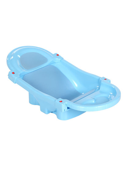 Mee Mee Foldable and Spacious Baby Bath Tub (Blue)