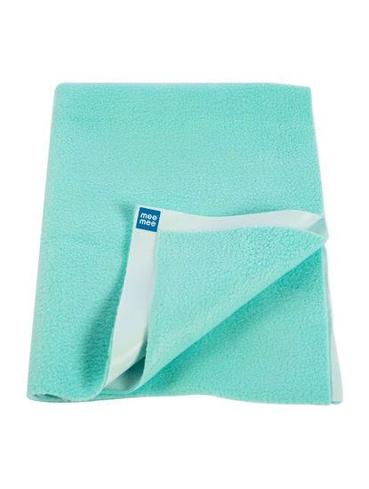 Mee Mee Baby Waterproof Bed Protector Total Dry Sheets – (Green)