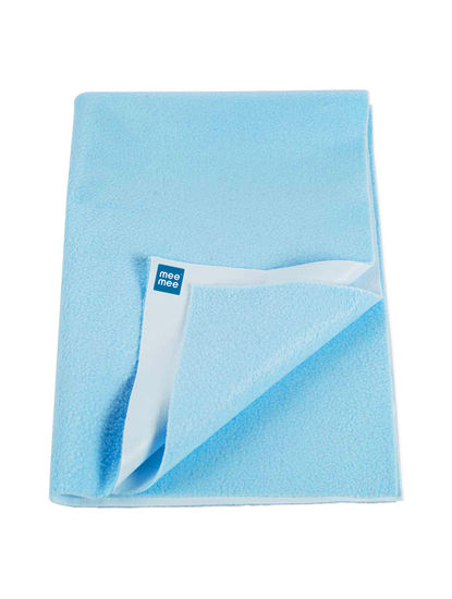 Mee Mee Baby Total Dry and Breathable Mattress Protector Sheet – (Blue)