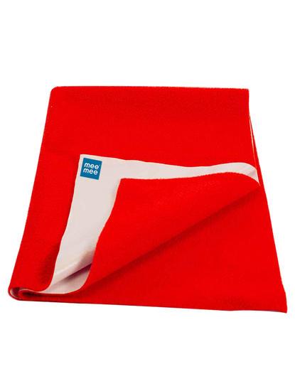 Mee Mee Baby Waterproof Bed Protector Total Dry Sheets – (Red)