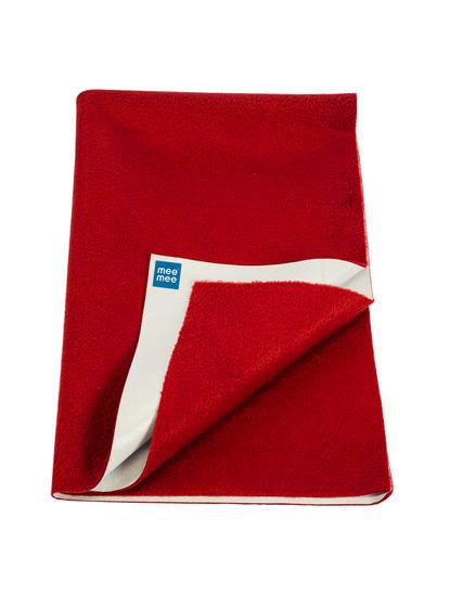 Mee Mee Baby Waterproof Bed Protector Total Dry Sheets – (Maroon)