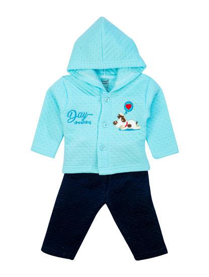 Mee Mee Baby Hooded Legging Set –  Peach And Dark Blue