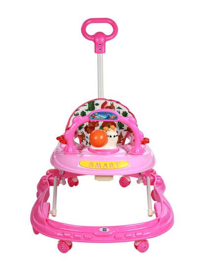 Mee Mee Simple Steps Baby Walker With Push Handle (Pink)