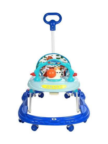 Mee Mee Simple Steps Baby Walker With Push Handle (Blue)