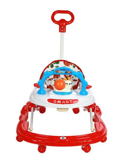 Mee Mee Simple Steps Baby Walker With Push Handle (Red)