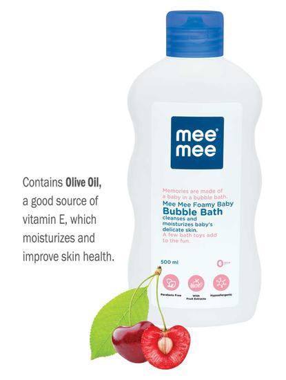 Mee Mee Gentle Baby Bubble Bath, White, 500ml