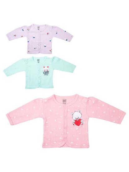 Mee Mee Full Sleeve Jabla Pack of 3 -Lilac Printed_Mint_Pink Printed