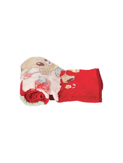 Mee Mee Cuddle Up Reversible Baby Blanket (Red)