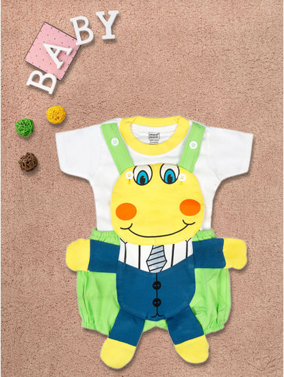 Mee Mee Short Sleeve Tee Smiley Dungaree Set