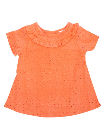 Mee Mee Kids Short Sleeve Chicken Frock – Coral Pink