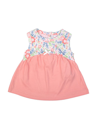 Mee Mee Girls Floral Sleeveless Frock With A Bow