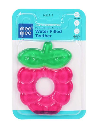 Mee Mee Multi-Textured Water Filled Teether (Pink)