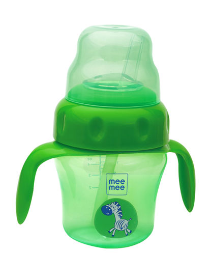 Mee Mee 2 in 1 Spout and Straw Sipper Cup (Green)