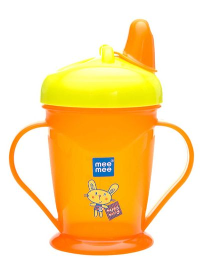 Mee Mee Easy Grip Sipper Cup with Twin Handle (Orange)