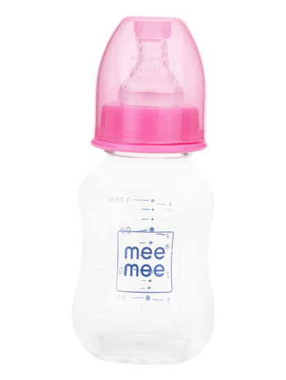 Mee Mee Premium Glass Feeding Bottle - Blue (125 ml)