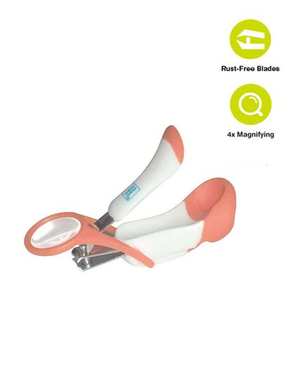 Mee Mee Gentle Nail Clipper with Magnifier (White/Blue)