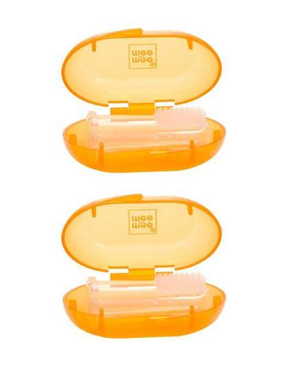 Mee Mee Unique Finger Brush (Single Pack, Orange)