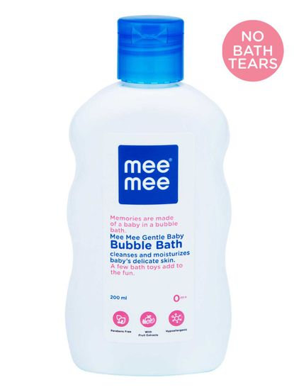 Mee Mee Gentle Baby Bubble Bath, White, 200ml