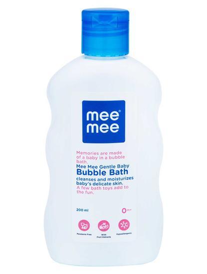 Mee Mee Gentle Baby Bubble Bath, White, 200ml