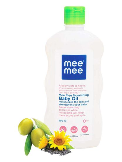 Mee Mee Baby Oil with Fruit Extracts- 500 ml