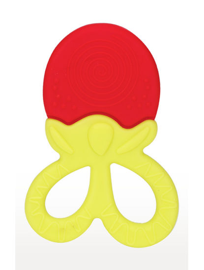 Mee Mee Multi Textured Silicone Teether (Red/ Yellow)