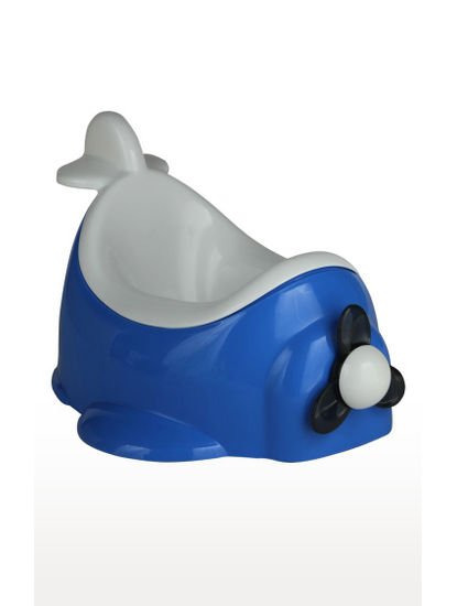 Mee Mee Baby Trainer Potty Chair with Airplane Design (Blue)