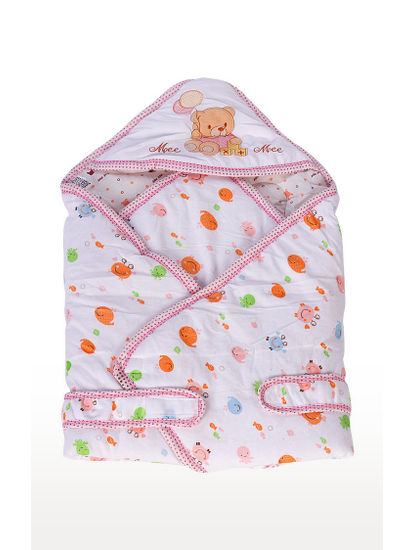 Pink Printed Baby Wrapper