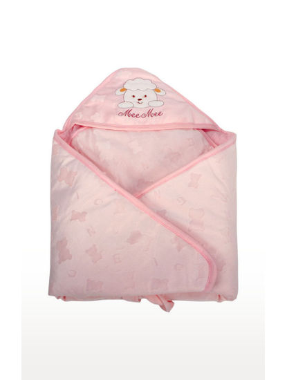 Pink Printed Wrapper with Hood