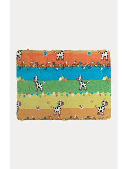 Multicoloured Soft Doggie Print Blanket