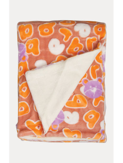 Orange Double Layered Blanket with 3D Printing