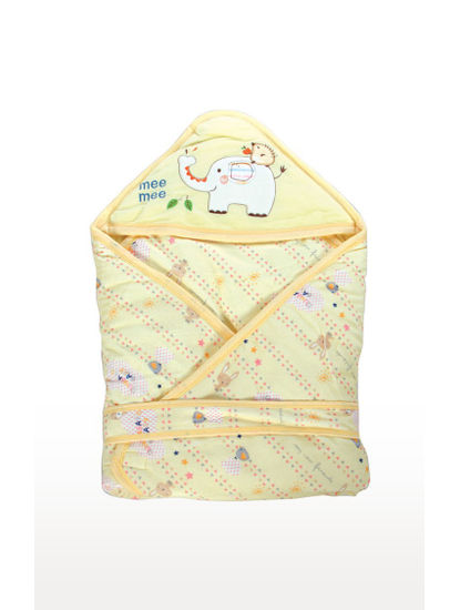 Mee Mee Baby Wrapper Blanket with Hood – Yellow
