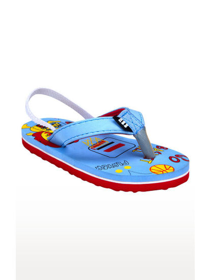 Mee Mee Unisex Flip-Flops and House Slippers (Blue - Red)