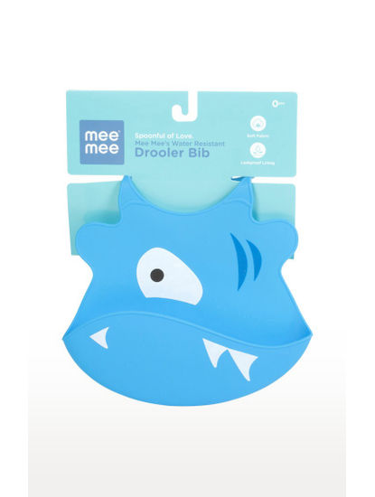 Mee Mee Water Resistant Drooler Bib (Blue)