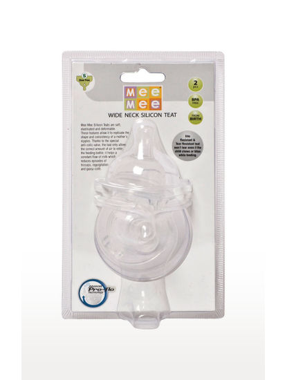Mee Mee Transparent Pro-Flow Technology Silicone Teat