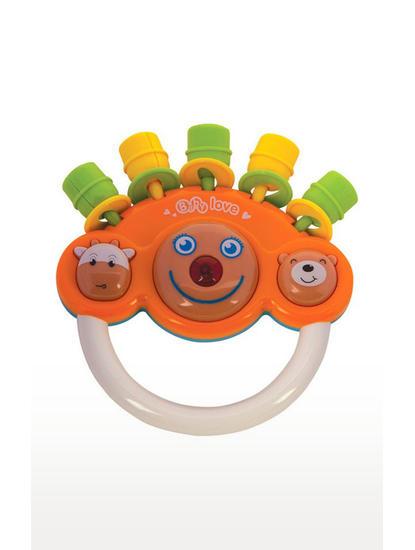 Mee Mee Musical Rattle Toy, Orange