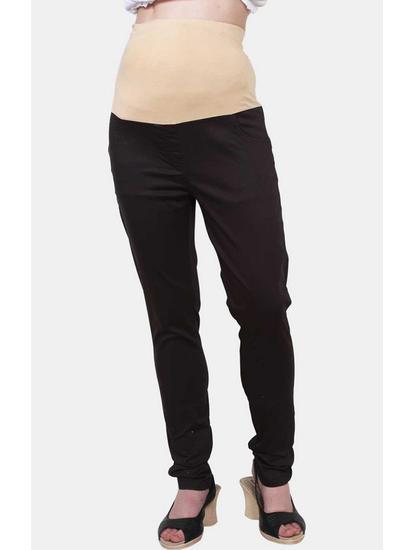 Mee Mee Black Solid Maternity Pants