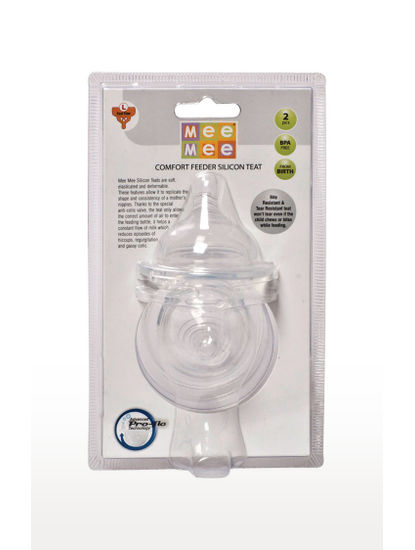 Mee Mee Transparent Pro-Flow Technology Silicone Teat (M)