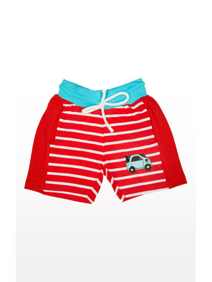 Red Striped Shorts