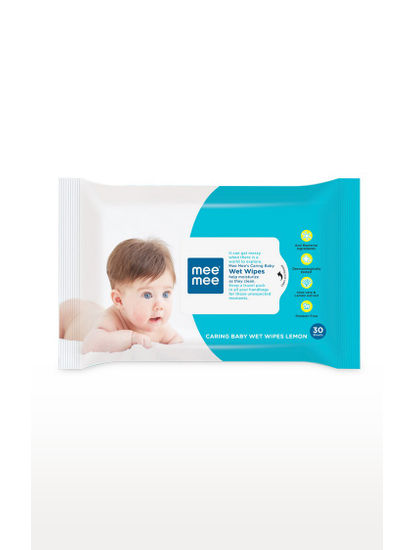 Mee Mee Caring Baby Wet Wipes with Lemon Fragrance (30 pcs)