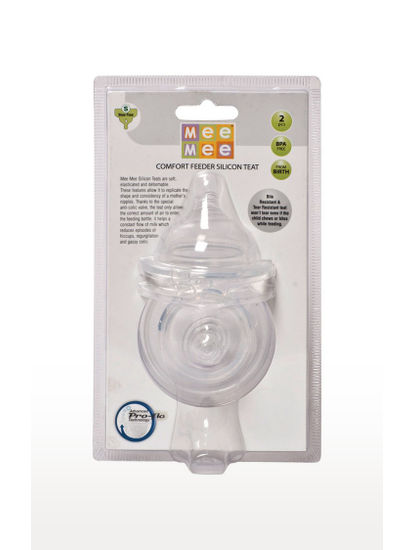 Mee Mee Transparent Pro-Flow Technology Silicone Teat (S)